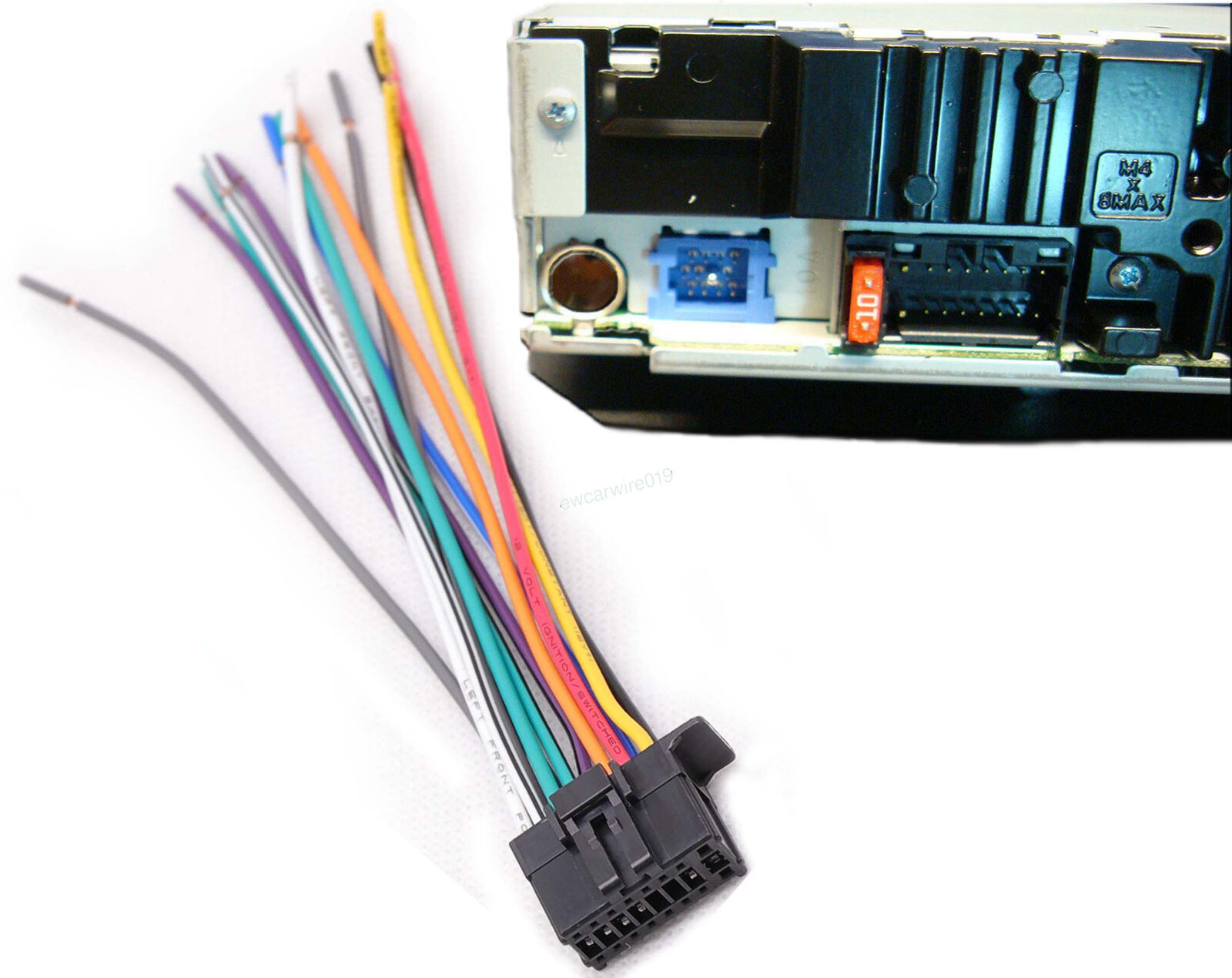 16 Pin Car Stereo Radio Wiring Harness Power Plug For 2010 UP Pioneer DEH  1300MP DEH 2400UB DEH 3400UB|Cables, Adapters & Sockets| - AliExpressAliExpress