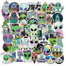 10/50 PIÈCES Nouveau Alien E.T UFO Autocollants Esthétique D'anime de Bande Dessinée Graffiti Pegatinas Valise Valise Étanche Naklejki