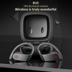 B10 Sport Drahtlose Kopfhörer Bluetooth 5,0 Kopfhörer Lauf Ohrbügel TWS 8D Stereo Sound TWS Ohrhörer PK Beatpro