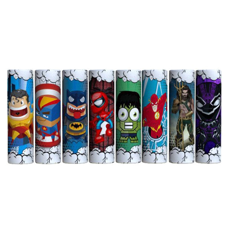 10pcs/pack 18650 Battery Sticker 18650 Battery Wrap Protective Skin For Battery Super Hero Series