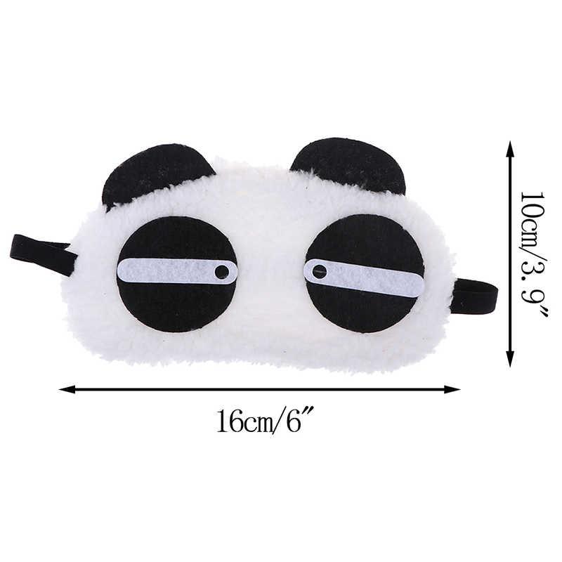 Hoạt Hình Ren Động Vật Gấu Trúc Eyeshade Mặt Nạ Ngủ Bao Microfiber Mắt Đệm Mắt Che Chắn Ánh Sáng Dễ Thương Mắt Mèo Đắp Mặt Nạ