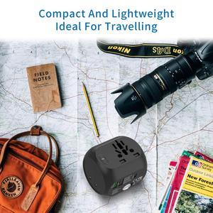 Image 5 - NTONPOWER Universal Adapter Alle In One International Travel Plug Adapter mit Typ C QC 3,0 Wand Ladegerät für UNS/EU/AU/UK