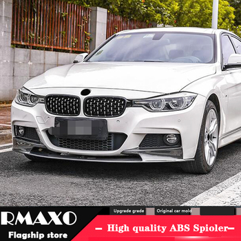 For F30 F35 Body kit spoiler 2019-2020 For BMW M3 320i 320li 3 ABS Rear lip rear spoiler front Bumper Diffuser Bumpers Protector image