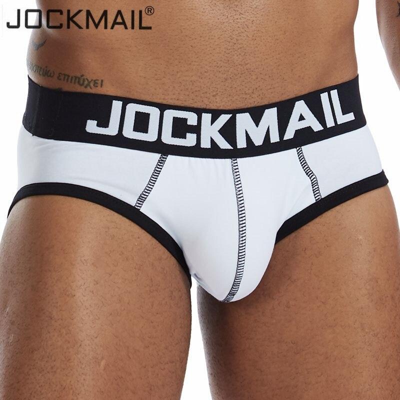 Jockmail men sexy briefs men cotton bikinis slips men underwear tanga hombre encaje bulge pouch thong men clothing Summer shorts