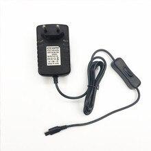 5 개/몫 라즈베리 파이 4 전원 공급 장치 5 v 3a type c 전원 어댑터 (on/off 스위치 포함) 라스베리 파이 4 모델 b 용 eu USB C 충전기