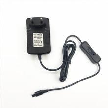 5 шт./лот Raspberry Pi 4 Источник питания 5 В, 3 А, адаптер питания Type C с переключателем питания для Raspberry Pi 4, Модель B