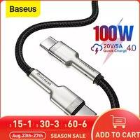 Baseus USB C a USB tipo C cavo USB C PD 100W veloce cavo di ricarica USB-C tipo C cavo per Samsung S20 S10 Macbook Pro tipo C cavo