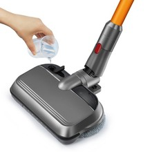 Elektrikli paspas kafası LED ışık Dyson V7 V8 V10 V11 elektrikli süpürge değiştirilebilir parçalar paspas pedleri ile su bardağı