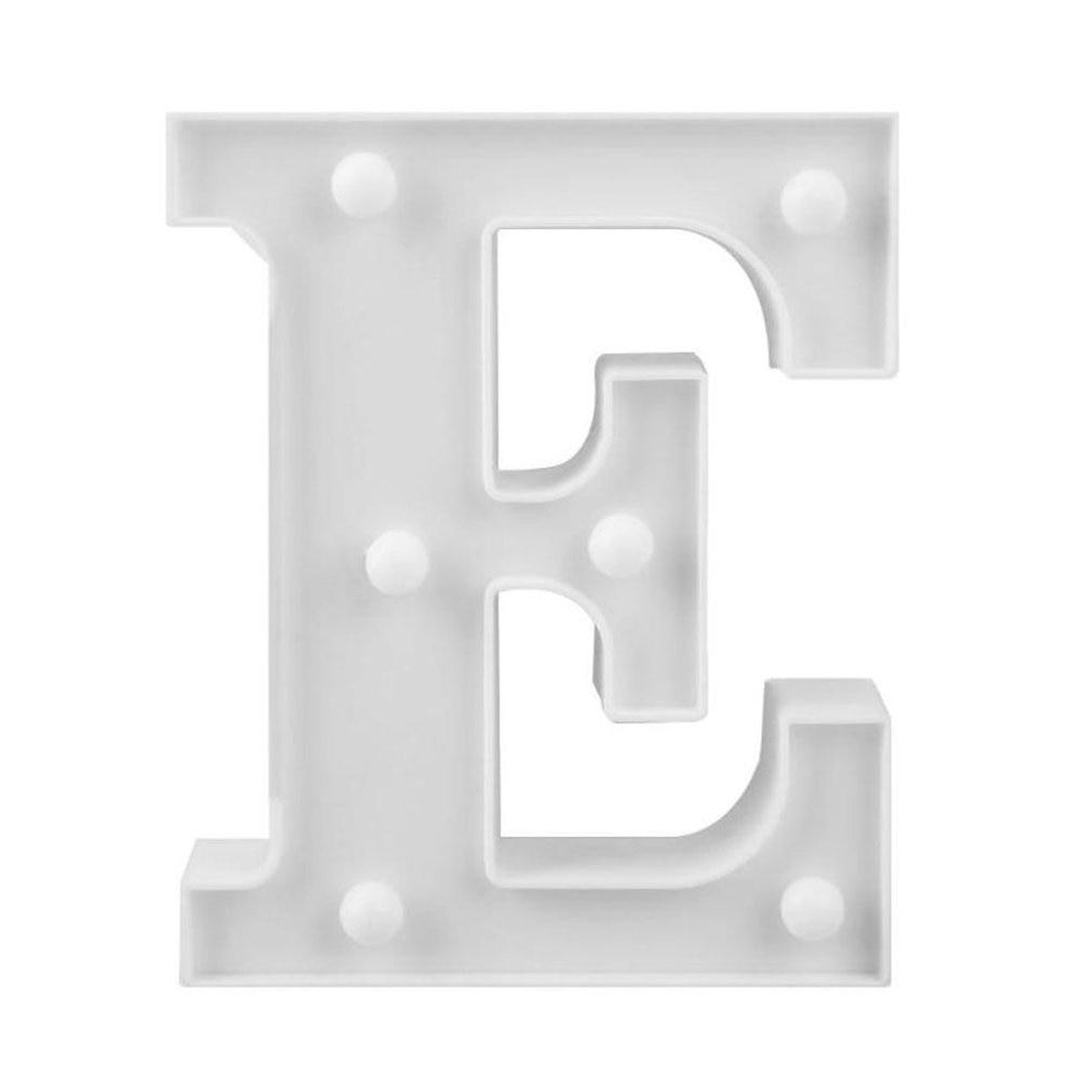 Shape E INS Hot English Letter Light LED Symbol Modeling Lamp Wedding Digital Light Birthday Proposal White Light