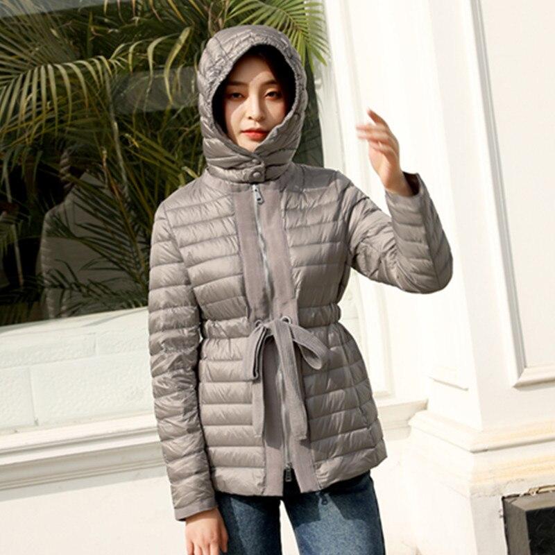 2020 Ultra Light Down Jacket Woman Hooded Duck Down Coat Winter Autumn Korean Puffer Womens Jackets Coats 8869 Kj3076