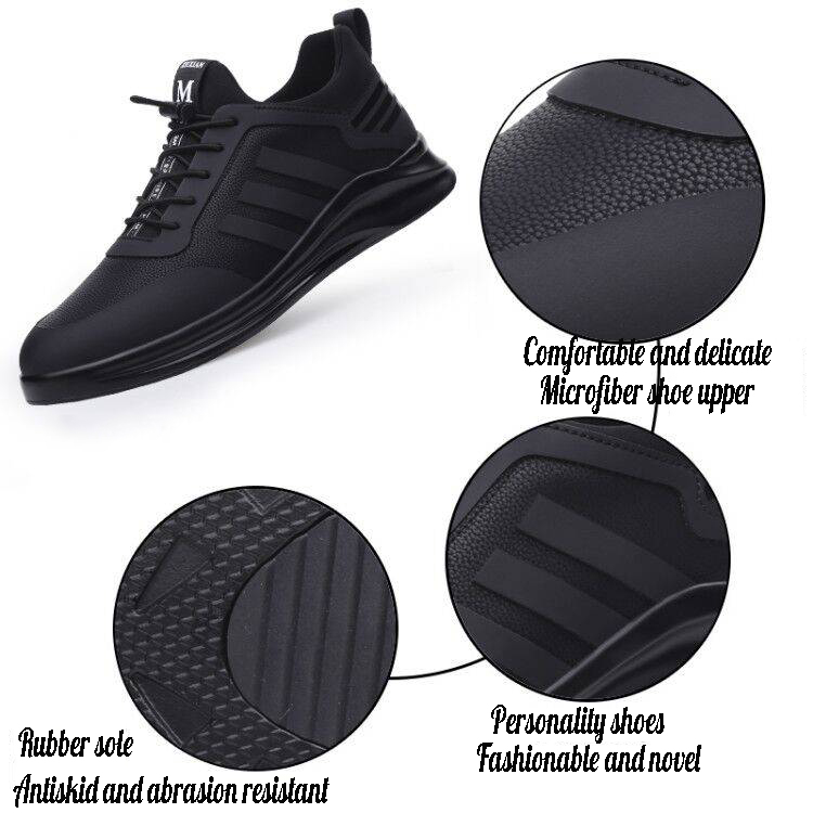 Image 2 - Damyuan Mens Running Shoes Breathable Comfortable Casual Height Increasing Man Sneakers Non slip Wear resisting Men Sport ShoesRunning Shoes   -