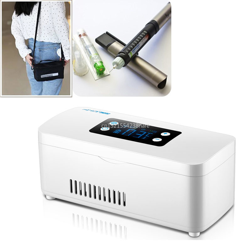 Insulin Refrigerator Portable Interferon Vaccine Refrigeration Box Lliquid Display Temperature Controlled MiniRefrigerating 220V