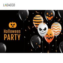 Laeacco Photography Backdrops Balloons Party Happy Halloween Festivals Baby Portrait Photo Backgrounds Photocall Photo Studio balloons birthday party ribbons family shoot poster baby portrait photo backgrounds photography backdrops photocall photo studio