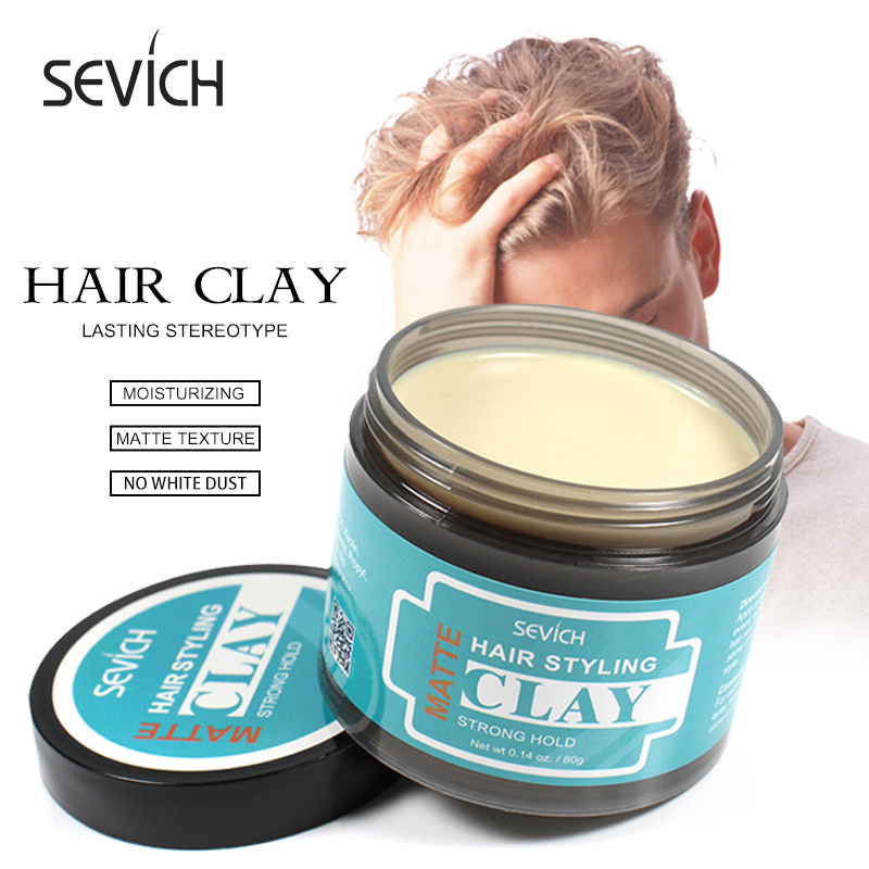 Sevich 80g Hair Styling Matte Hair Clay Lasting Stereotype Matte Clay Strong Hold Easy Wash Convenient Smooth