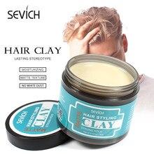 Sevich 80 г для укладки волос, матовая глина для волос, стойкая стереотипичная матовая глина, прочная и удобная стирка, гладкая