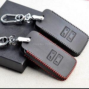 Image 3 - Para renault dacia duster 2020 botões chaves inteligentes couro genuíno carro de controle remoto chaveiro capa caso acessórios