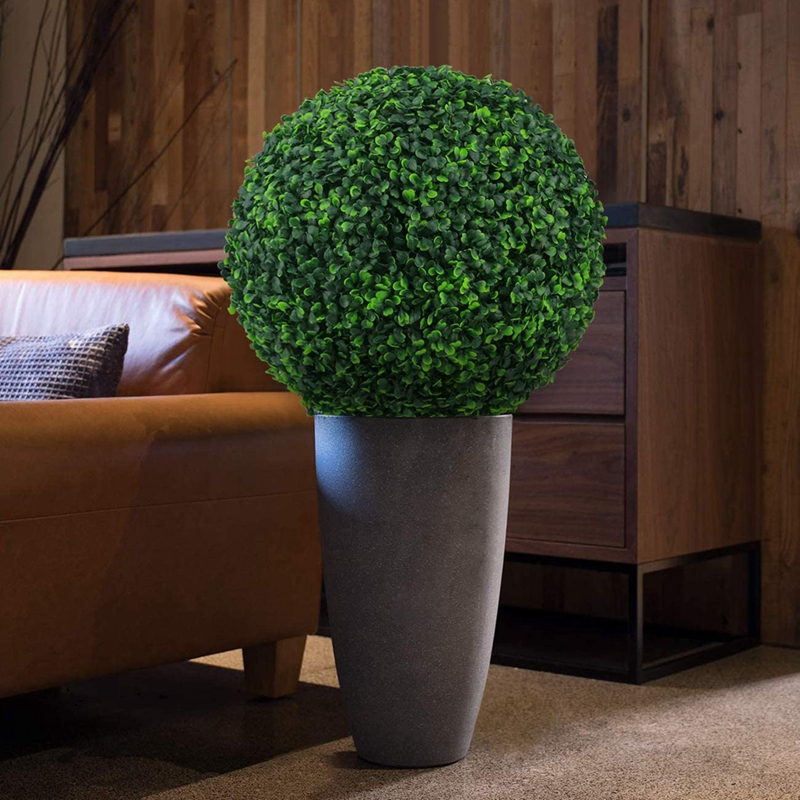 wedding : 2 PCS 15 7 Inch Artificial Plants Faux Boxwood Decor Balls Topiary Plastic Ball for Backyard Wedding Home Decoration Accessories
