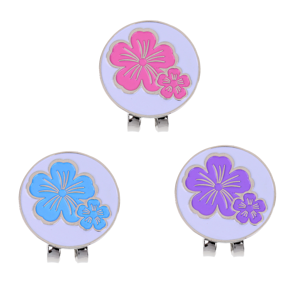 1 Piece Flower Design Golf Ball Marker Hat Clip Magnetic Durable Alloy Golf Gift Golf Accessories