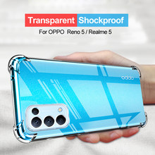 Shockproof Silicone Phone Case For OPPO Realme C2 A1K 3 X K3 5 6 7 X7 PRO X2 X50 5G V3 OPPO RENO Z 2 X2 4 5 Pro Back Cover