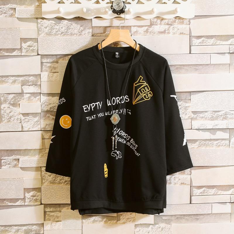 Graffiti Print Casual T Shirts Half Sleeve Tee Tops Summer Men Hip Hop  Streetwear Fashion Harajuku Casual Male Tshirts