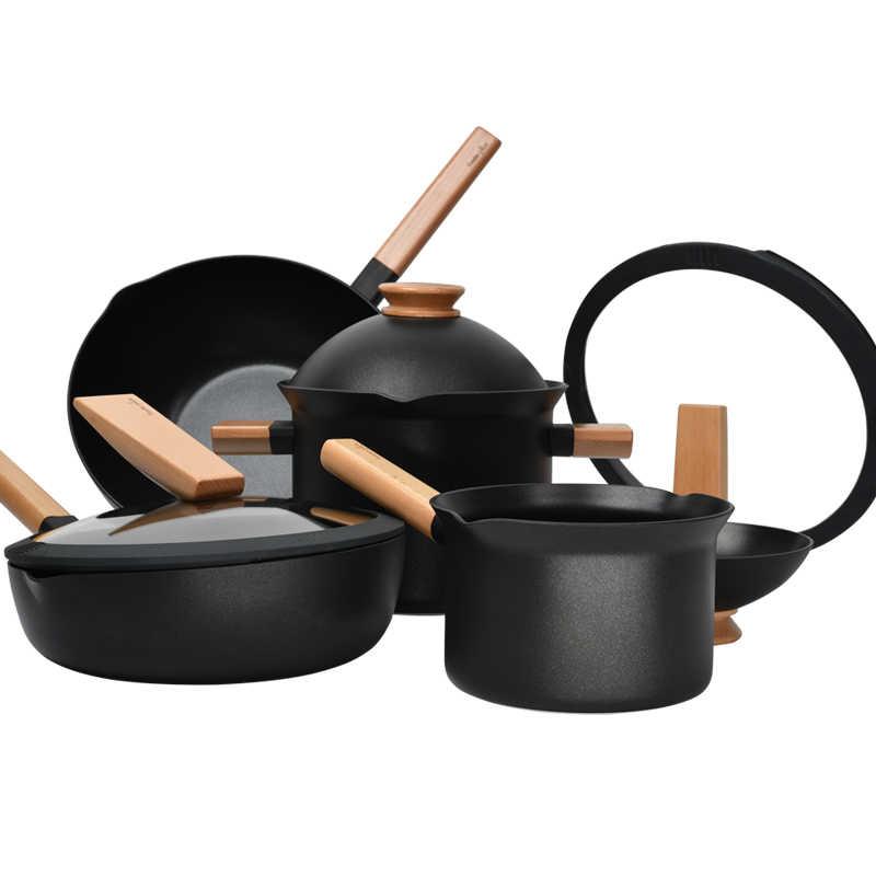 Kitchen Pot Cookware Set Removable Creative Flat Bottom Non Stick Household Fried Vegetable Cooker Set Cookware Sets Aliexpress