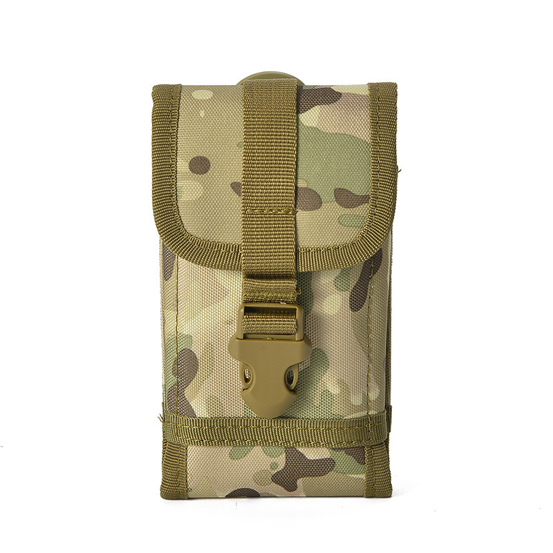 Tactical Waist Pack Multi-functional Sports Waist Pack Camouflage Nylon Phone Case Pendant Small Attached Bag Outdoor Mobile Pho