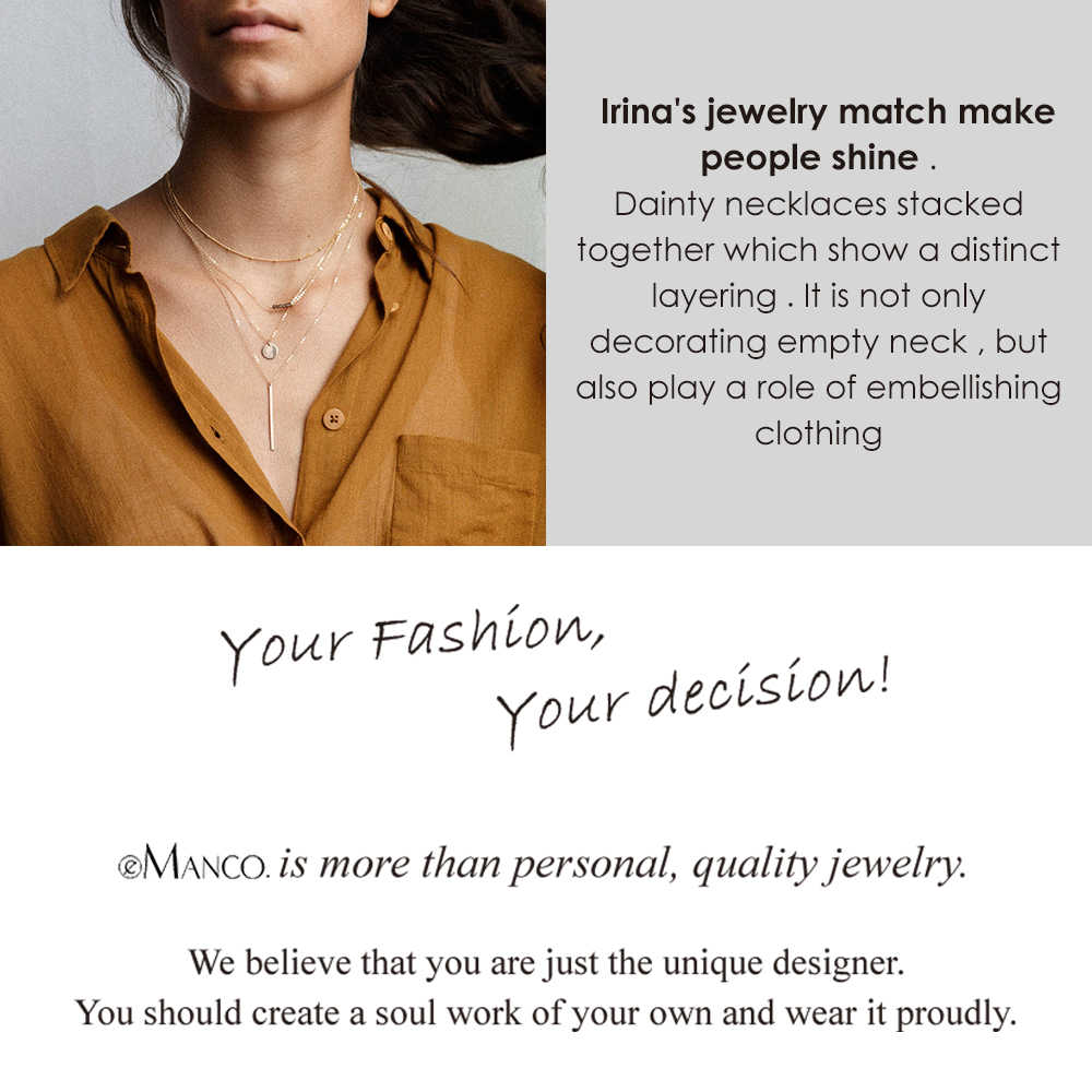 DIY Women Necklace  letter Stainless Steel Necklaces gold Chain Choker Necklace Women Statement Personalized jewelry Best friend