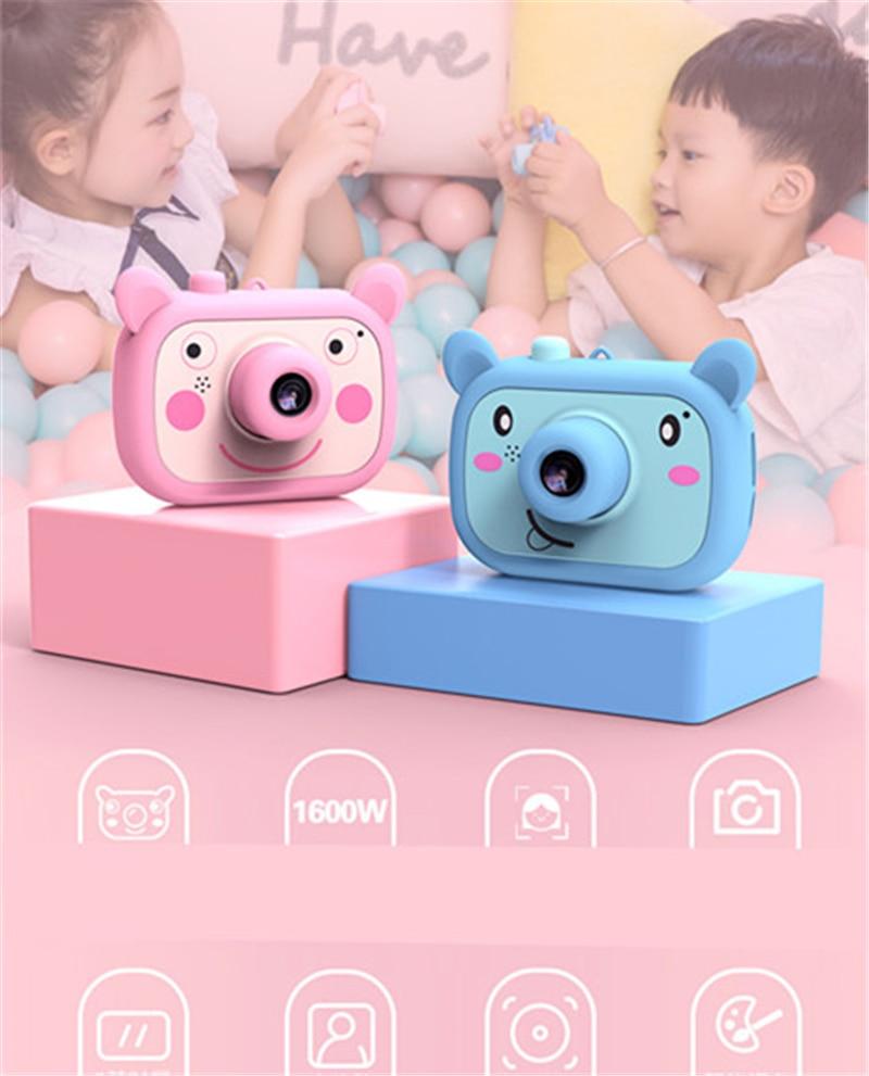Wifi crianças câmera hd câmeras digitais projeção