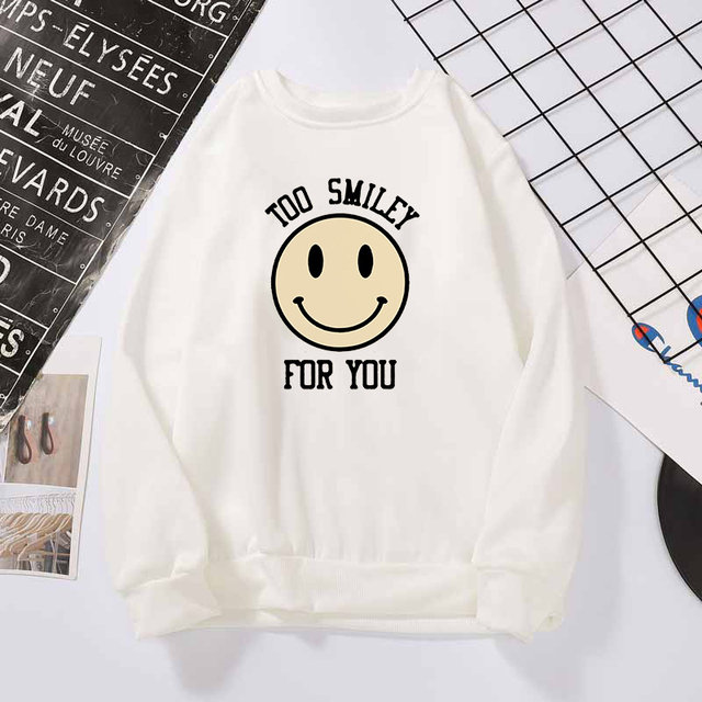 ADDISON RAE TOO SMILEY FOR YOU SWEATSHIRT (6 VARIAN)