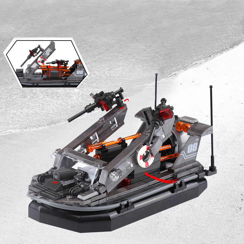 legoinglys Military Building Blocks Weapoms Sea Area Assault Boat Defense Cannon Moc World War 2 Figures Gift For Boy Toy Blocks