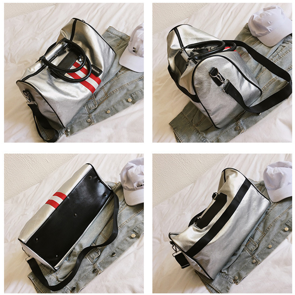 Short-distance Travel Bag Ladies Hand Luggage Bags Men's Korean Version of Soft PU Leather Large Capacity Waterproof Fitness