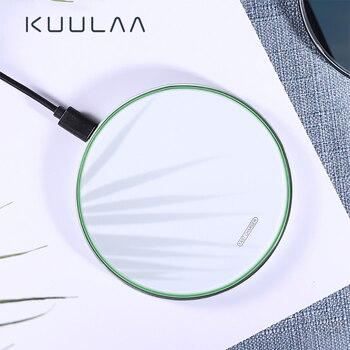Cargador inalámbrico KUULAA 10W Qi para iPhone 11 Pro XS Max X Xr 8, almohadilla de carga inalámbrica de inducción rápida para Samsung S20 Xiaomi Mi 9