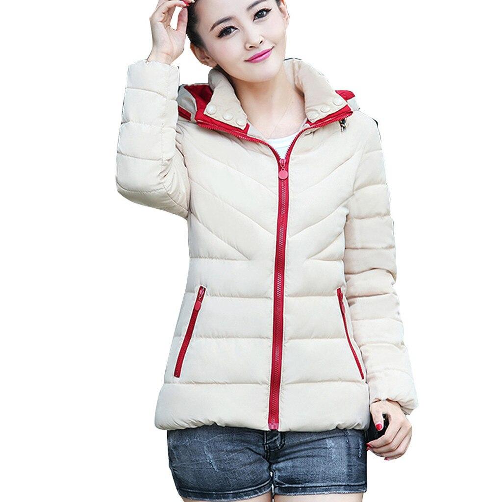 Hb49f90fbd36e44349dba993ebf1b9ca1s fashion Women's Jackets Hooded Thickening Slim Outwear Winter Warm Casual Short Jacket Women Coat Outwear Tops