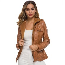 Winter Faux Leather Jacket Women Casual Basic Coats Plus Ladies Jackets European size