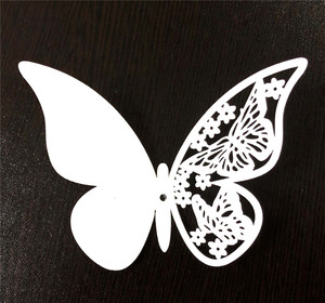 Butterfly Metal Cutting Dies for Place Card Making Baby Shower for Wedding Party Birthday Decoration Favor Supplies