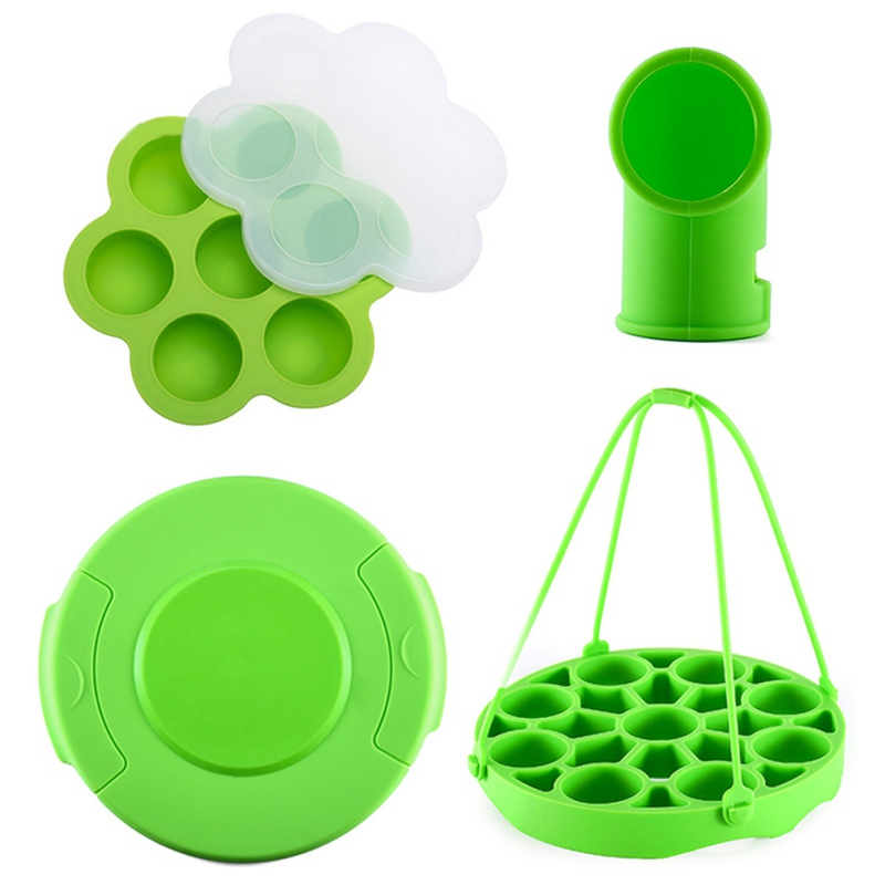 4PCS Pressure Cooker Silicone Steamer Accessories With Lid Egg Tools Cake Molds Baby Food Storage Container
