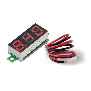 DC 3.50-30V 0.28in 2 Wire LED Digital Display Voltmeter Electric Voltage Meter Volt Tester for Auto Battery Car Motorcycle image