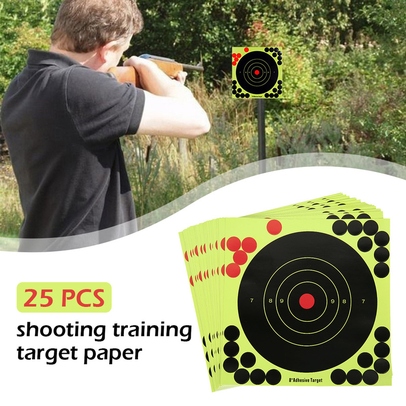 25pcs Splatter Flower Objective Targets Stickers 8 Inch Shoot Target Adhesive Reactivity Aim Shoot Target Shooting Training Part