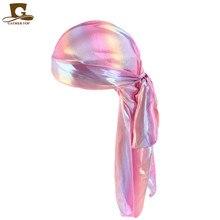 Laser Emulation Silk Long Tail Pirates Hat Baotou Cap Hip-hop Cloak Hat Durag Tjm - 005 - J