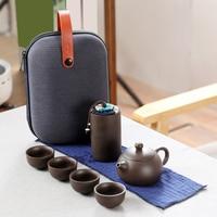 Jogo cerâmico portátil do chá do kung fu para o grupo do copo do curso do agregado familiar Jogos de chá     -