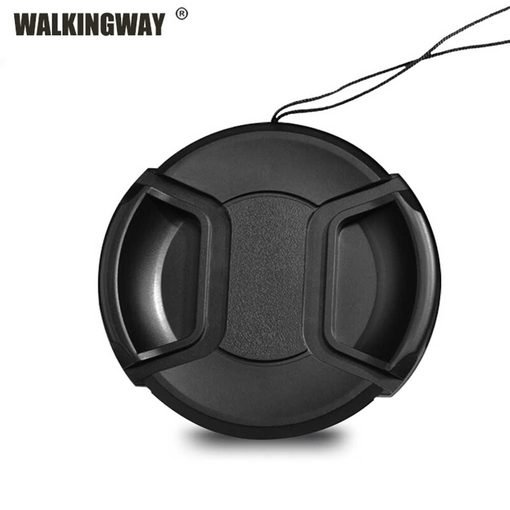 Walkingway Lens Cap Holder 43/49/52/55/58/62/67/72/77/82 millimetri Centro Pinch Snap-on Cover Cap di Protezione Lens Protector