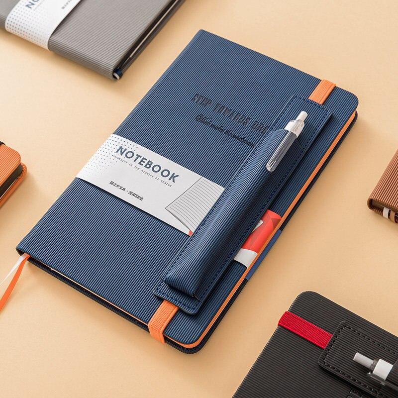 Image 3 - PU Leather Office Planner Business Notebook School Stationery Supplies 2020 Agenda Planner Organizer Pen Insert Bag NotebookNotebooks   -