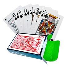 Пластик ПВХ шаблон баккара пластиковые водонепроницаемые Игральные карты Игры покер карты; настольные игры 58*88 мм карты