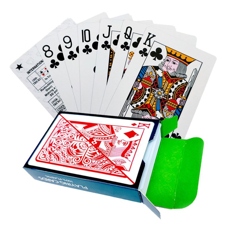 100% Plastic PVC New Pattern Baccarat Plastic Waterproof Playing Card Game Poker Cards Board Games 58*88mm Cards
