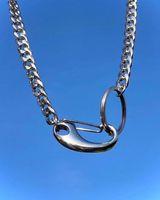 Фото ожерелье цепочка fishsheep из прозрачного акрила для мужчин
