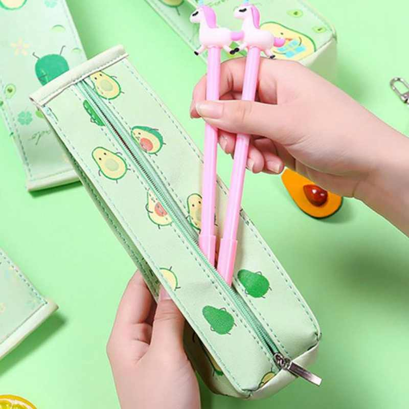 1 шт. кавайный чехол для карандаша милые авокадо подарок Хэлло Китти школьный пенал для карандашей Карандаш сумка, школьные принадлежности канцелярские товары