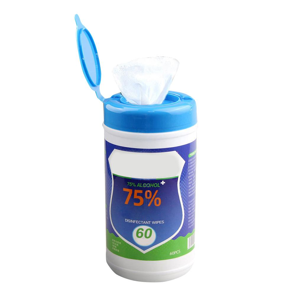 60 Sheets/Pack Portable 75% Disposable Wipes Non-woven Fabric Skin-friendly Cleaning Wipes Household Cleaning Accessories(China)