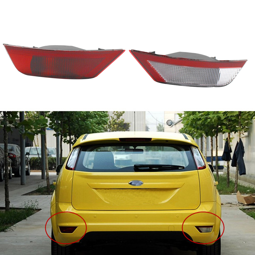 Car Right Rear Bumper Reflector Lights Rear Fog Lamp without Bulb for <font><b>Ford</b></font> Hatchback <font><b>Focus</b></font> <font><b>2010</b></font> 2011 2012 2013 N18 image
