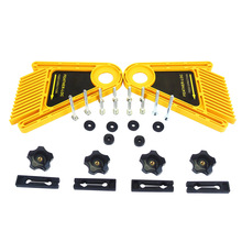 Multi-purpose Feather Woodworking Board Set for Table Saws Engraving Machine Double Featherboards Miter Gauge Slot Woodwork diy multi purpose double featherboards feather loc board for table saws router