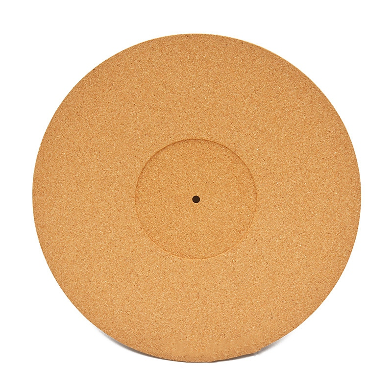 Cork LP Slip Mat Anti-Static Slipmat for 12 Inch LP Vinyl Record Cork Turntable Platter Mat